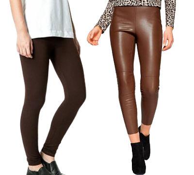 Dos mujeres con leggins marrones